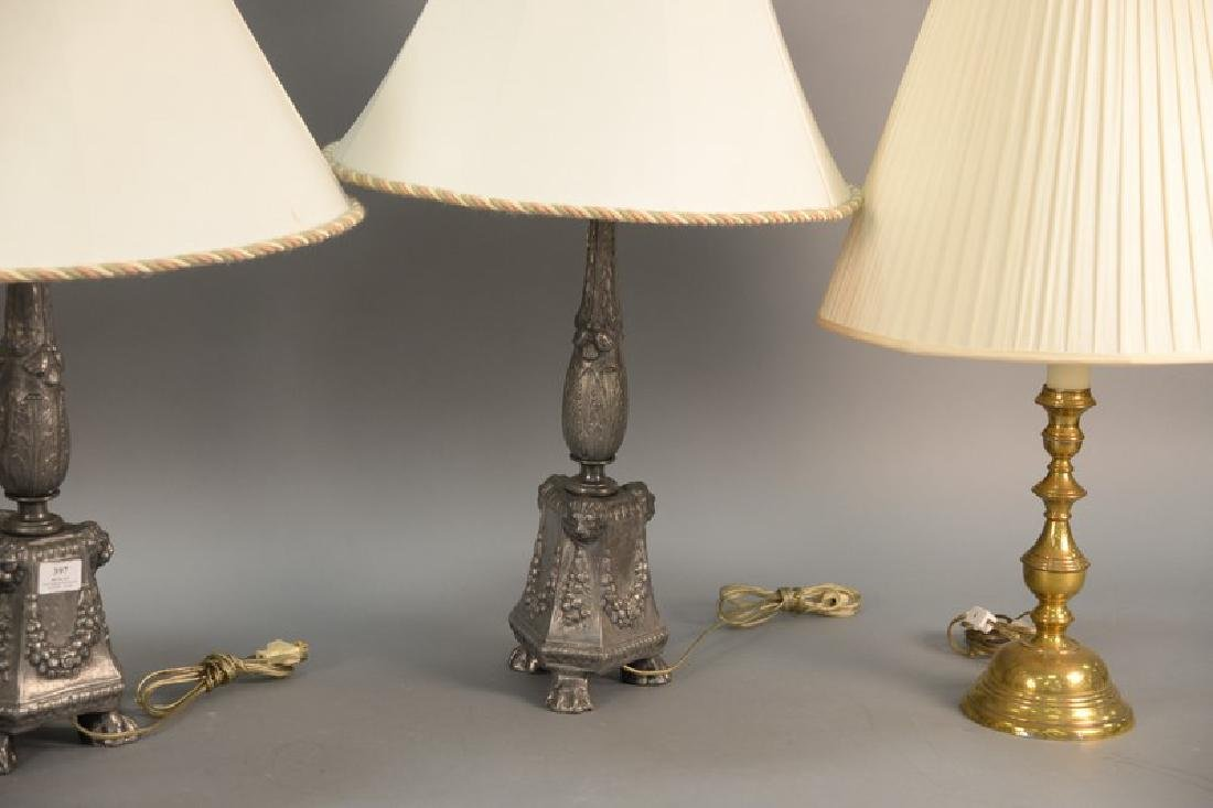 Six table lamps including two pair and two odd lamps. - 2