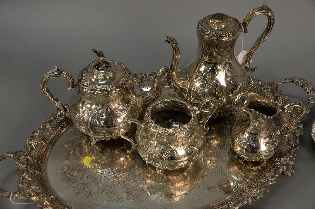 Group of silver plate to include five large silver - 2