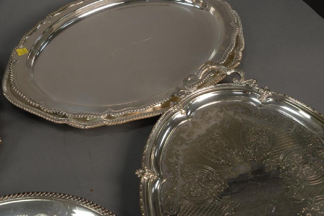 Group of silver plate to include five large silver - 3
