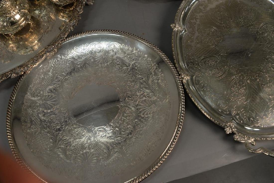 Group of silver plate to include five large silver - 4