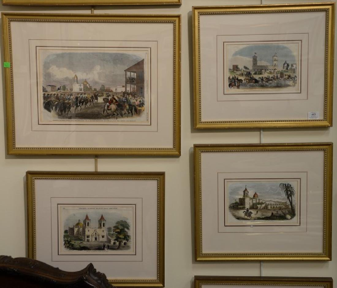 Ten framed pieces to include a group of five Harper's