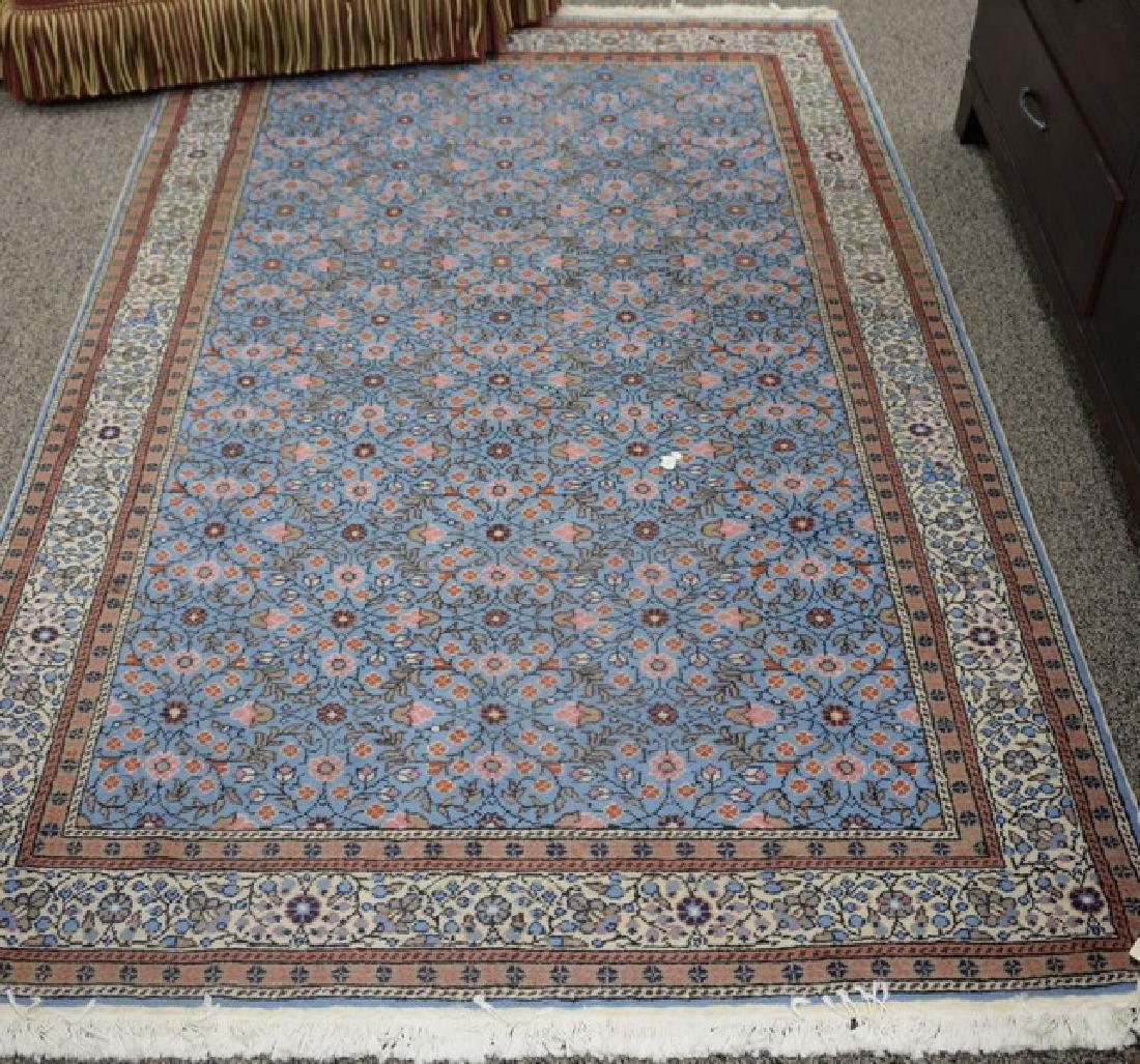 "Oriental throw rug. 4'8"" x 7'4"""