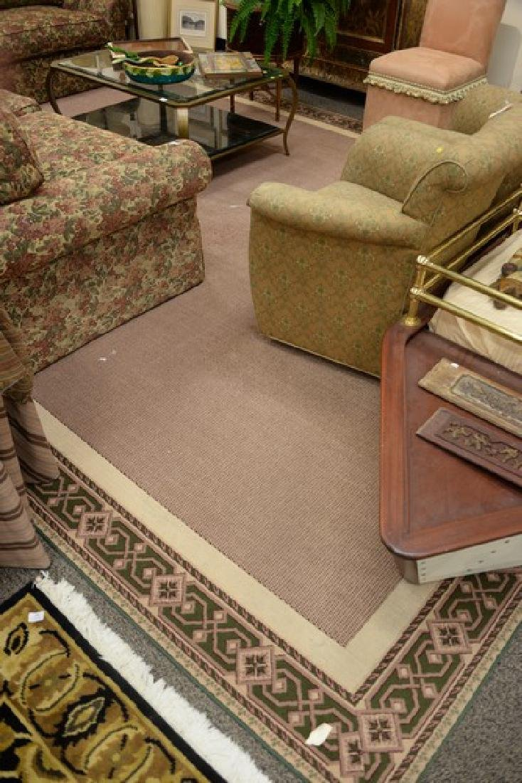 Custom contemporary carpet in manner of Stark. 11' x