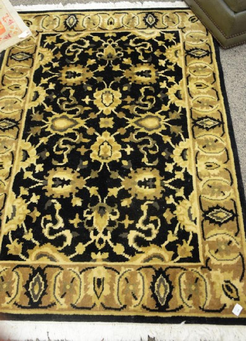 "Contemporary Oriental throw rug, 4'2"" x 6'."