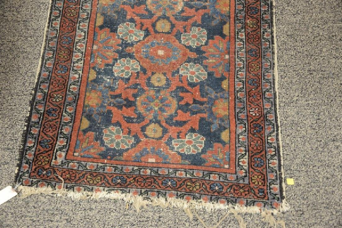 """Two Oriental throw rugs. 2'6"""" x 3'9"""" and 1' x 2'6"""" - 2"""