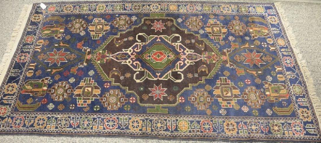 "Oriental throw rug, 3'7"" x 6'4""."