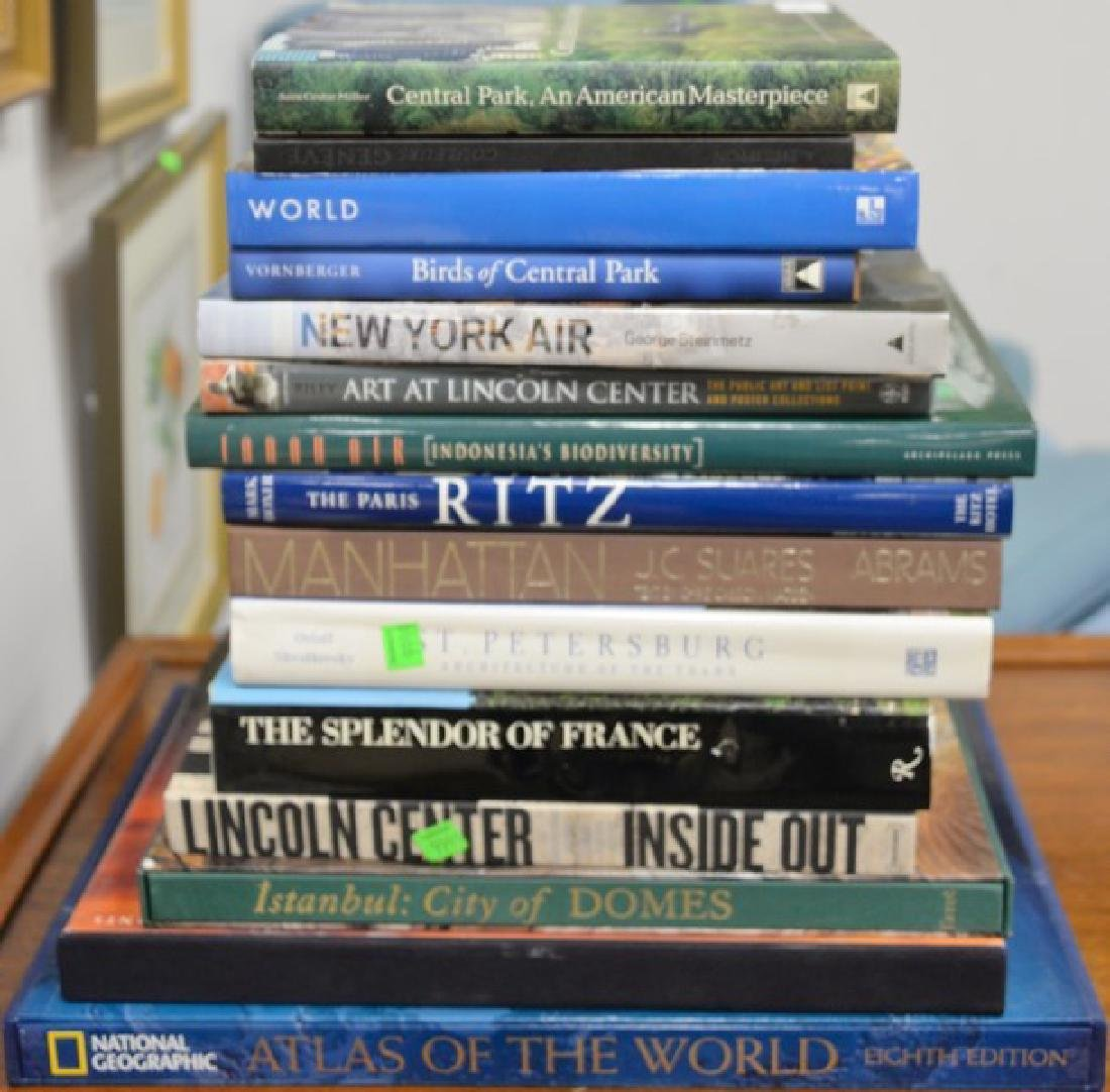 Fifteen art themed coffee table books to include Suores