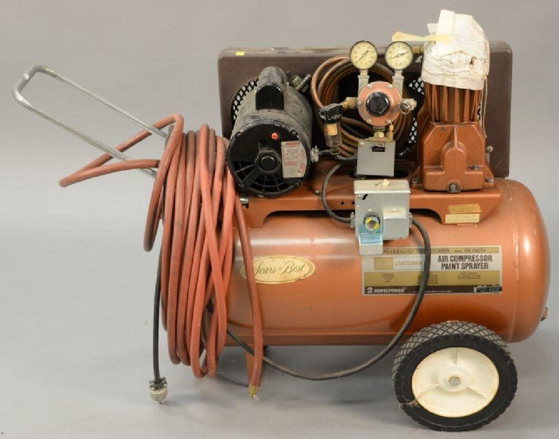 Craftsman Sears Best air compressor paint sprayer, 2HP,