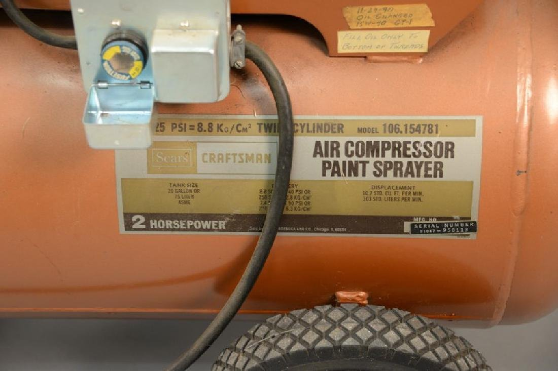 Craftsman Sears Best air compressor paint sprayer, 2HP, - 2