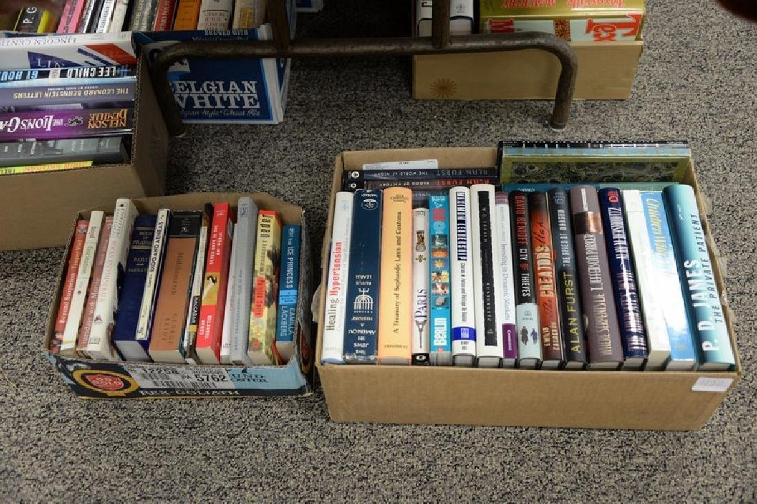 Eighteen boxes of miscellaneous books, mostly hard - 3
