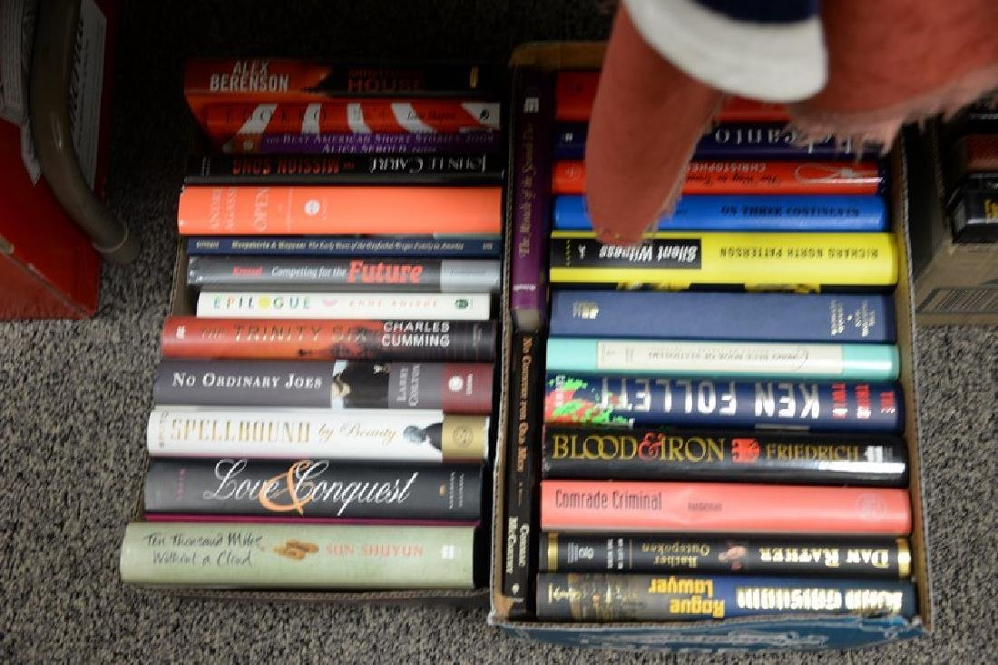 Eighteen boxes of miscellaneous books, mostly hard - 6