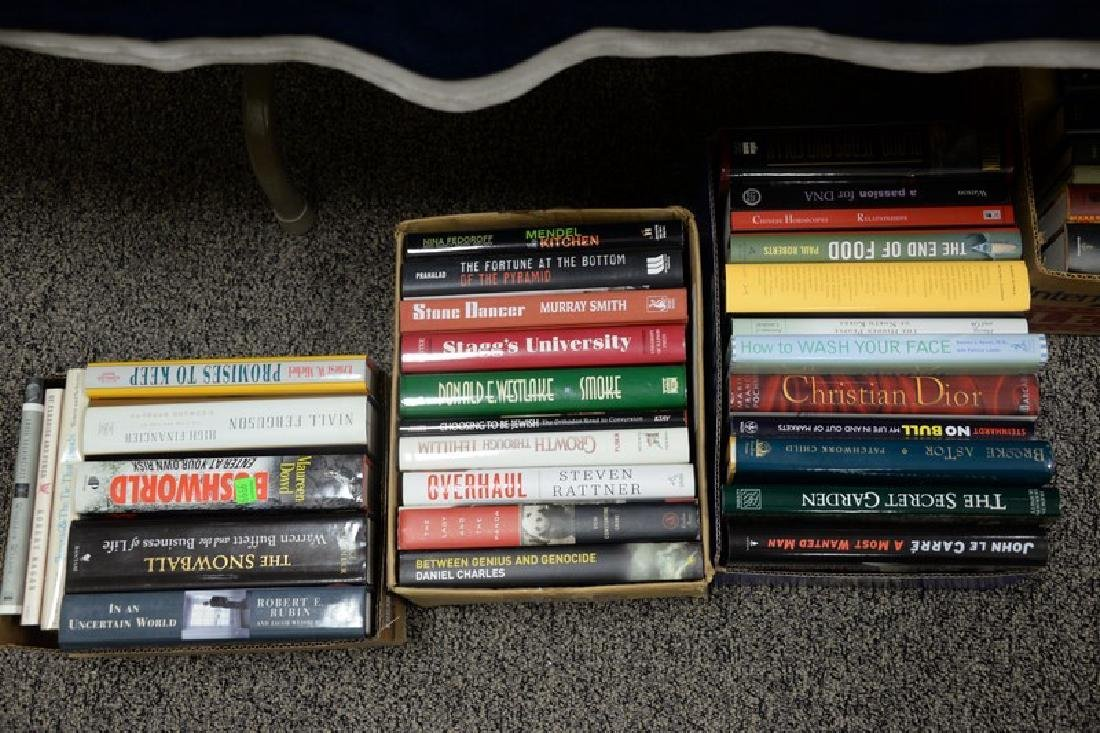 Eighteen boxes of miscellaneous books, mostly hard - 7