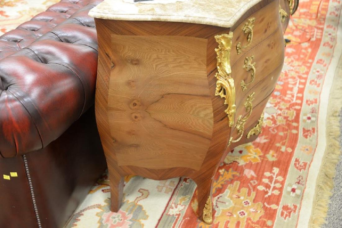 French style marble top chest with four drawers - 4