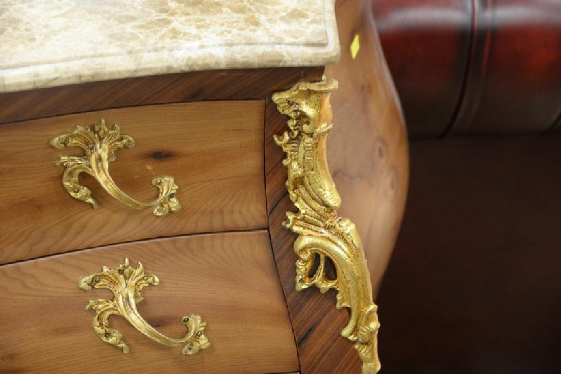 French style marble top chest with four drawers - 5
