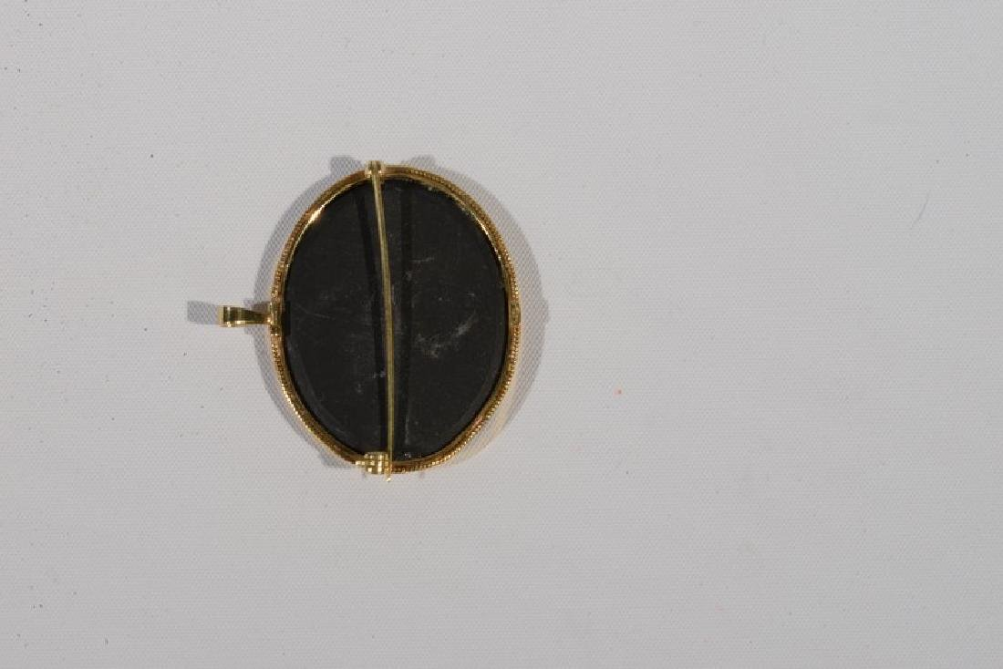 NO CREDIT CARDS FOR JEWELRY  Pietra dura pin in 18 - 3