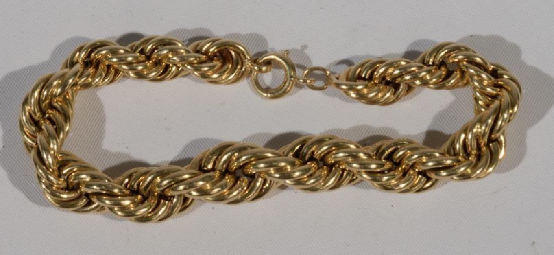 NO CREDIT CARDS FOR JEWELRY  14 karat gold bracelet.