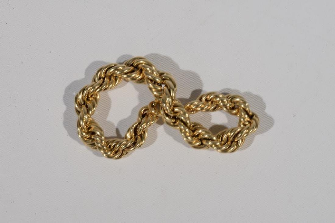 NO CREDIT CARDS FOR JEWELRY  14 karat gold bracelet. - 3