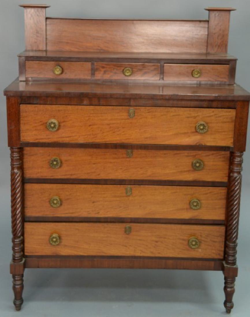 Sheraton mahogany and figured mahogany three over four