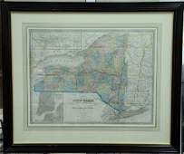 Three maps after John Calvin Smith, hand colored