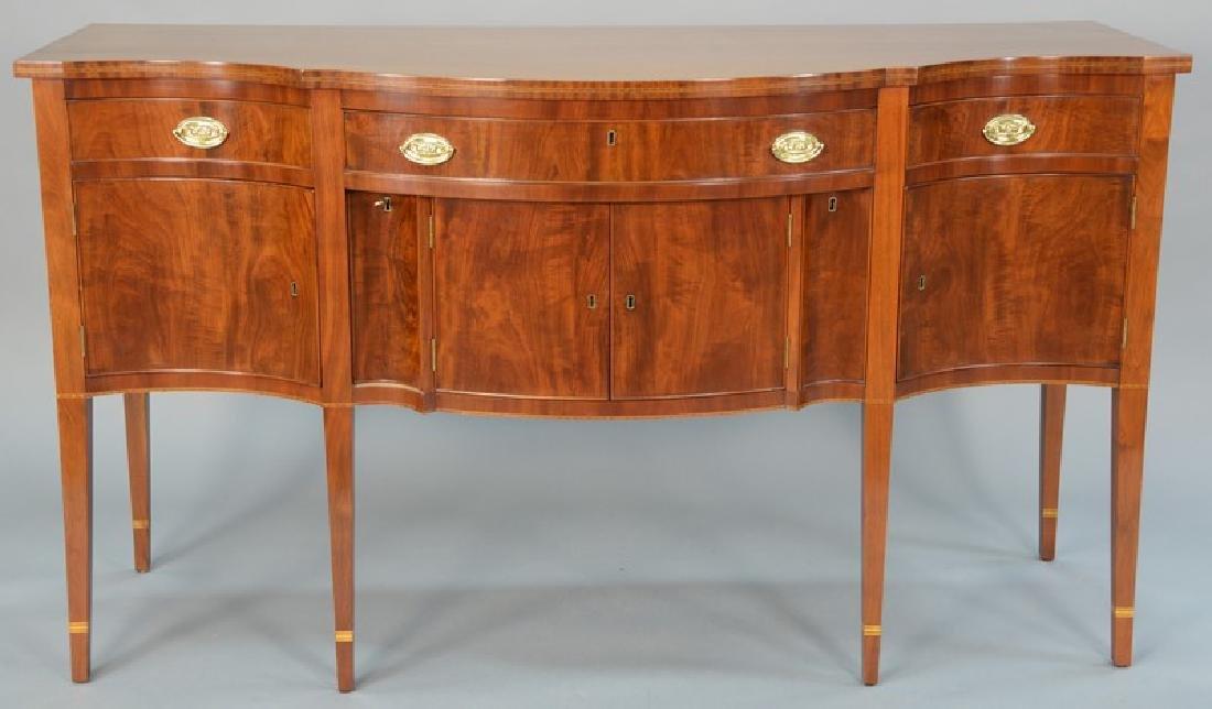 Margolis mahogany Federal style sideboard with door,