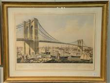 Currier  Ives  hand colored lithograph The Great East