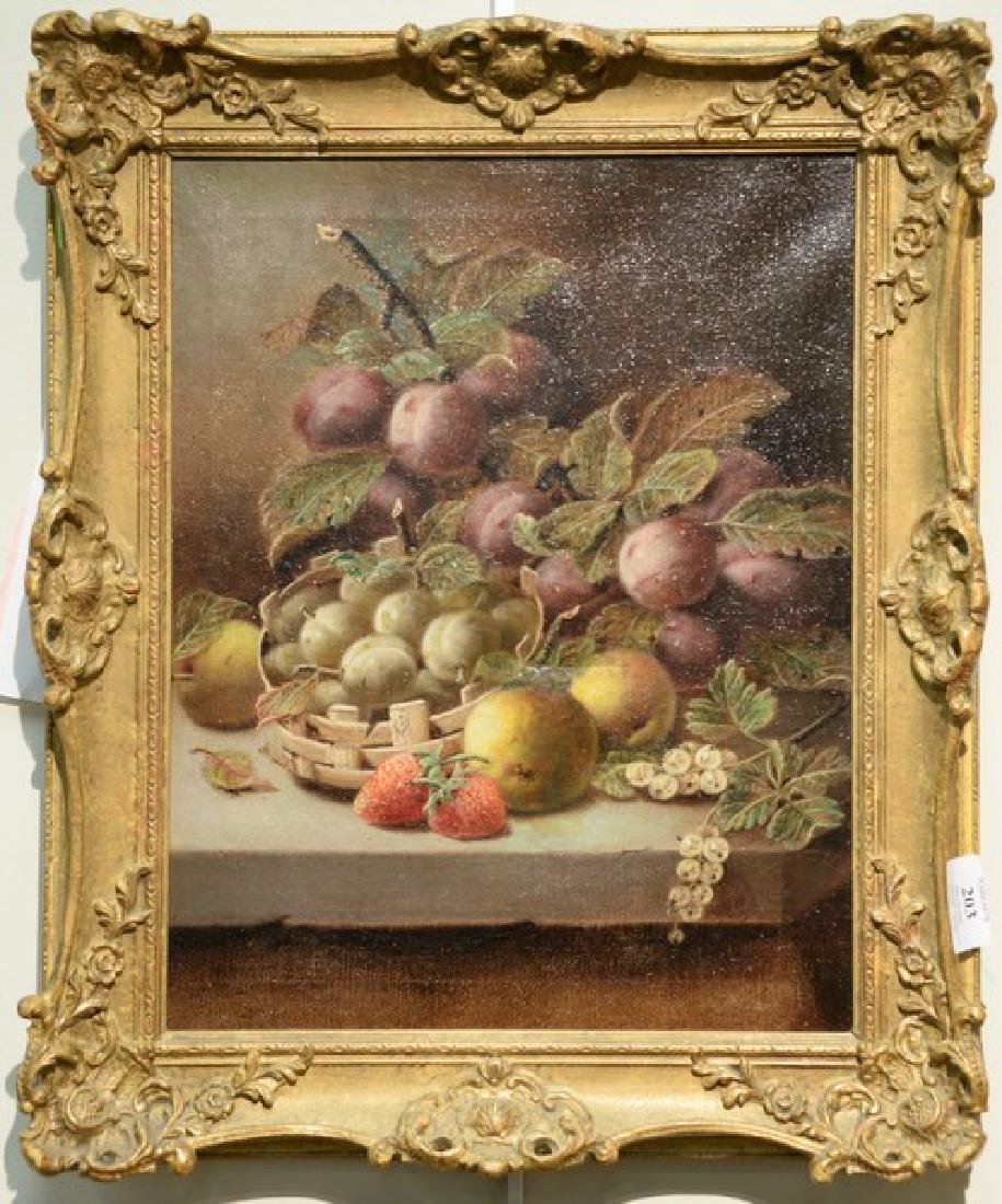 Oliver Clare (1853-1927)  oil on canvas still life of