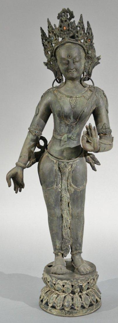 Tibetan bronze goddess figure