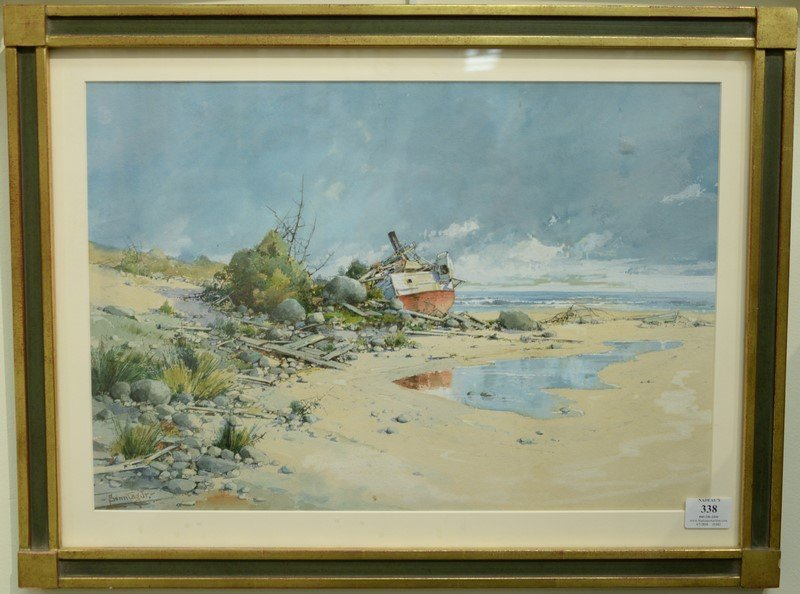William Sonntag Jr. (1869-1898)  watercolor  Wrecked