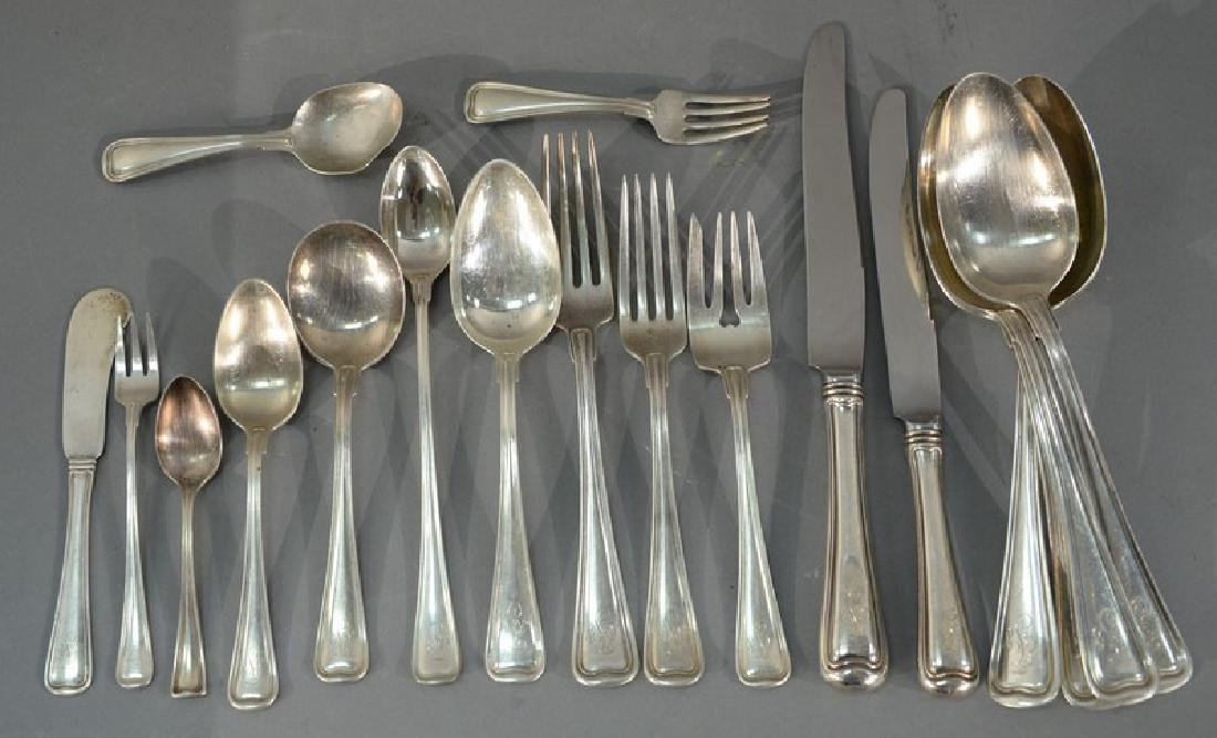 Sterling silver flatware set, 98 total pieces, to
