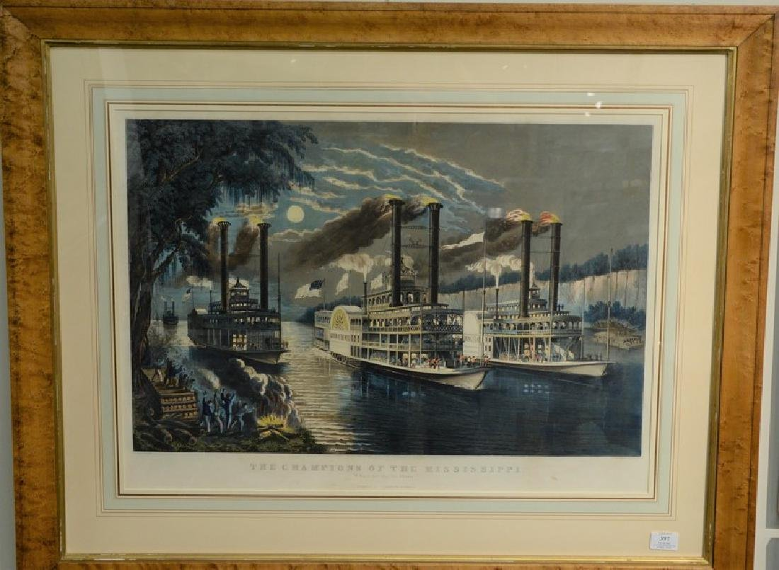 "Currier & Ives  hand colored lithograph  ""The Champions"