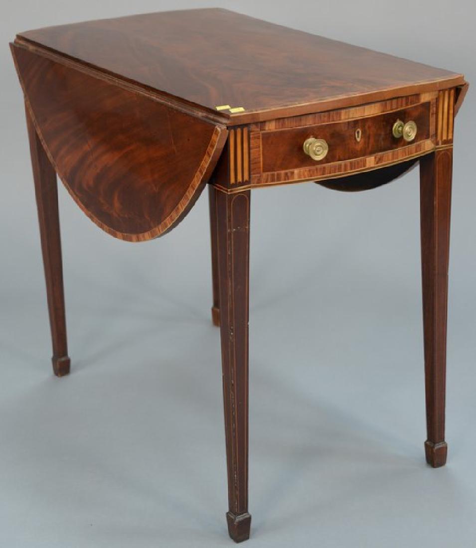 George III mahogany pembroke table with oval drop
