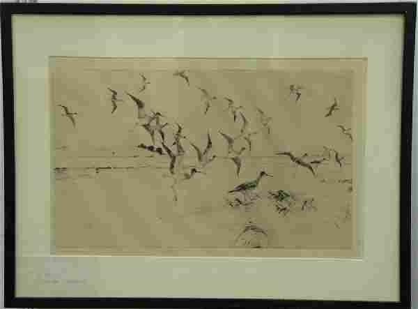Frank Weston Benson (1862-1951)  two etchings  (1)