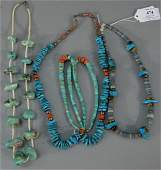 NO CREDIT CARDS FOR JEWELRY  Five turquoise necklaces