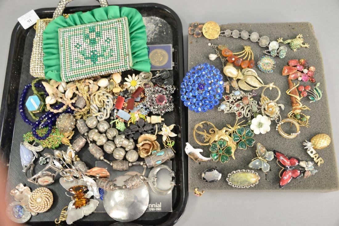 Lot of costume and silver jewelry including American