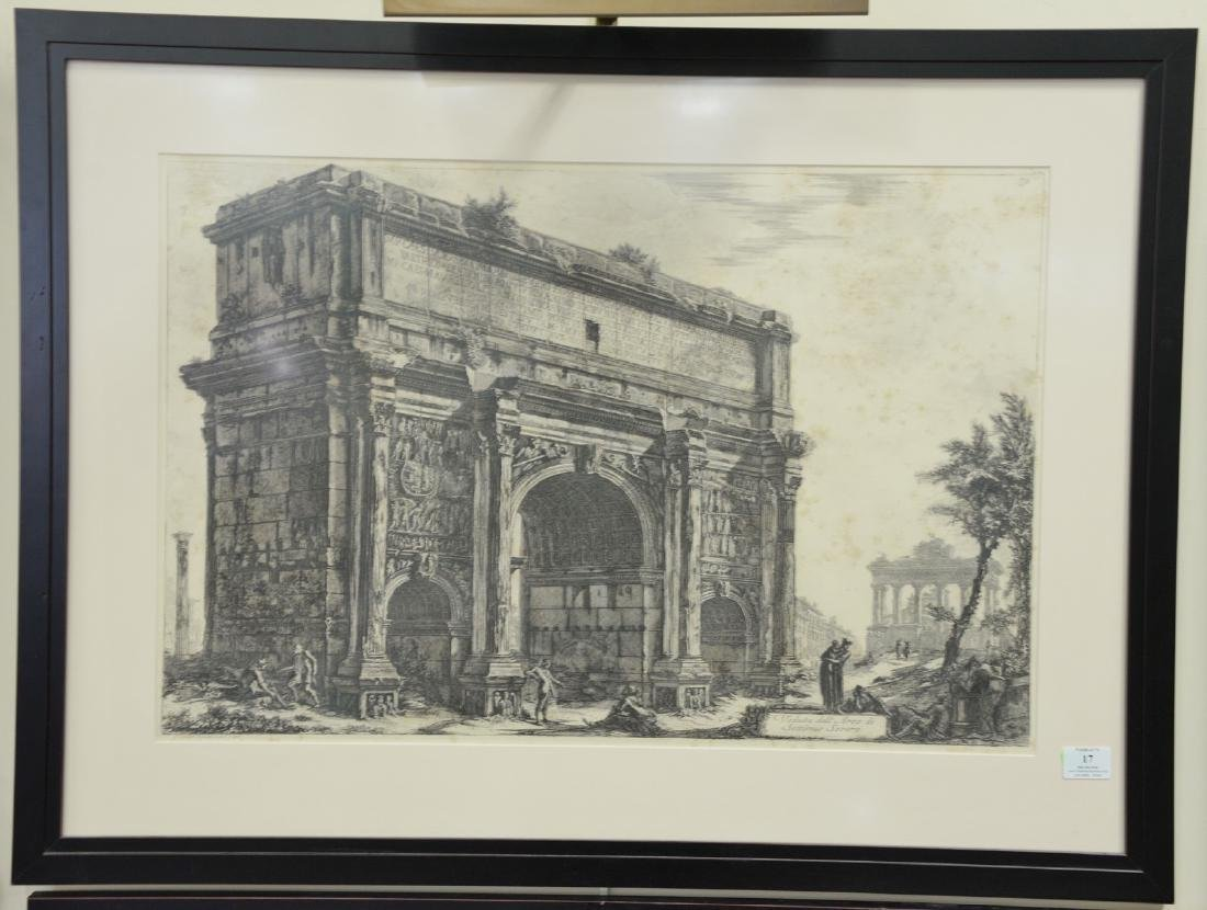 Giovanni B. Piranese, etching, Veduta dell'Arco di
