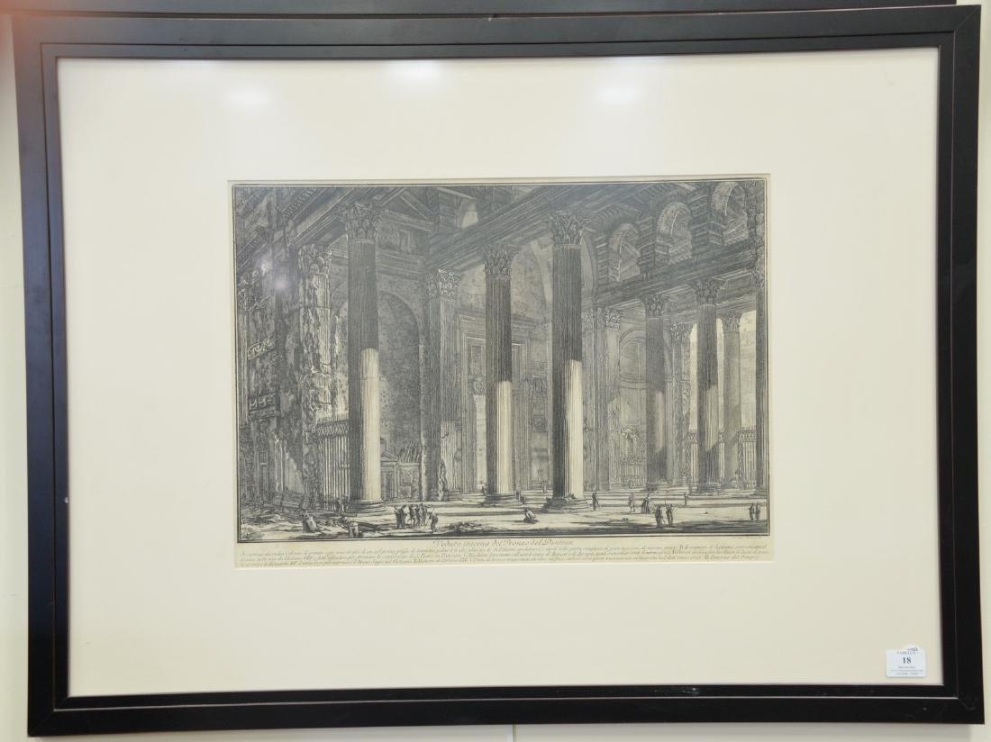 """Giovanni Battista Piranese, etching, """"Veduta del Pronao"""