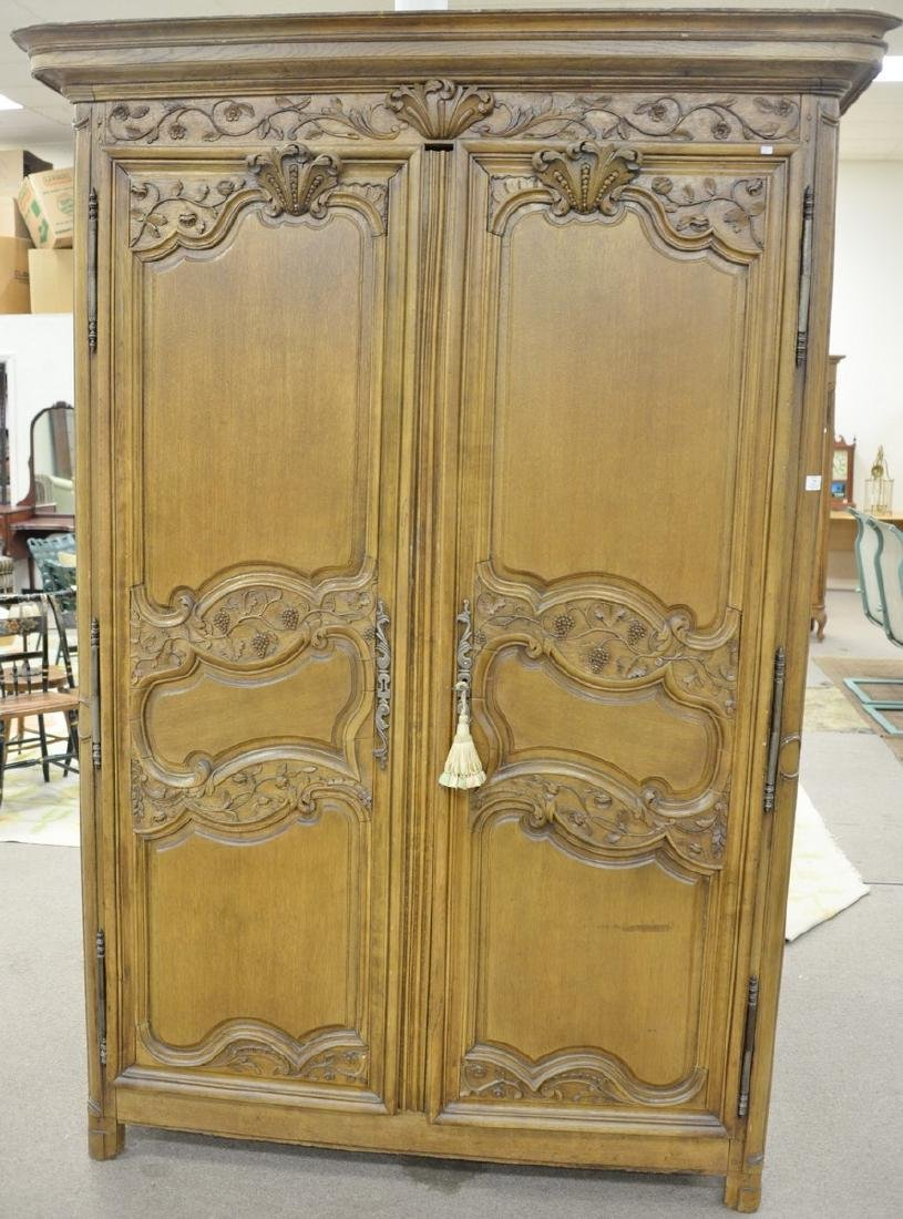 Louis XV style armoire cabinet now fitted drawer and TV