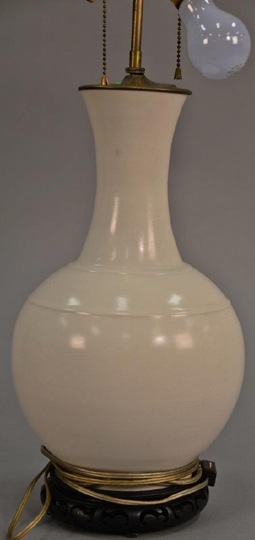Chinese blanc de chine porcelain globular form vase