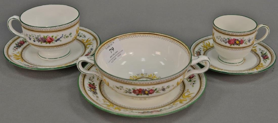 Wedgwood Columbia set of cups and saucers in four