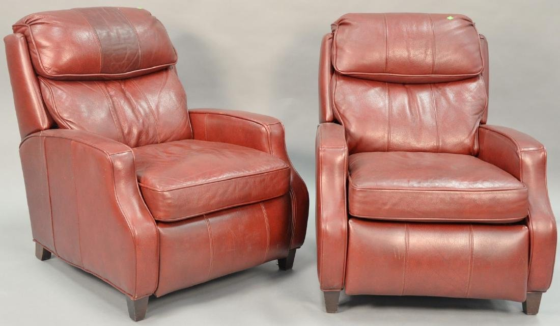 Bradington Young pair of leather reclining chairs.