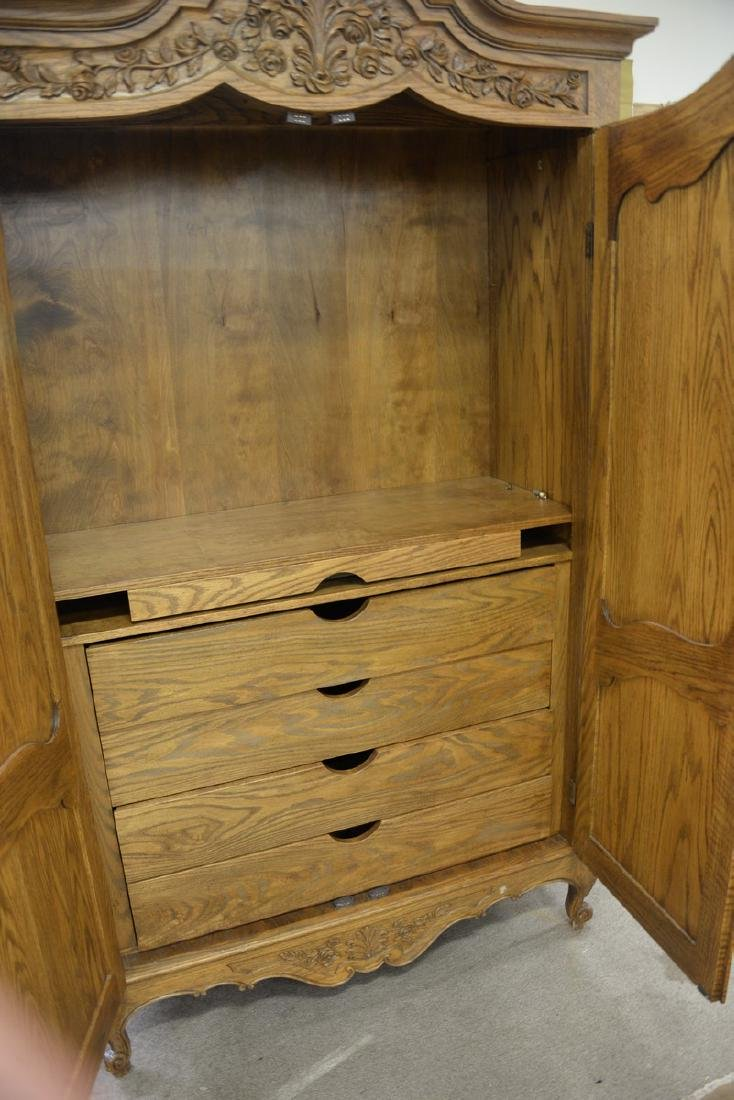 Louis XV style two door armoire with four fitted - 5