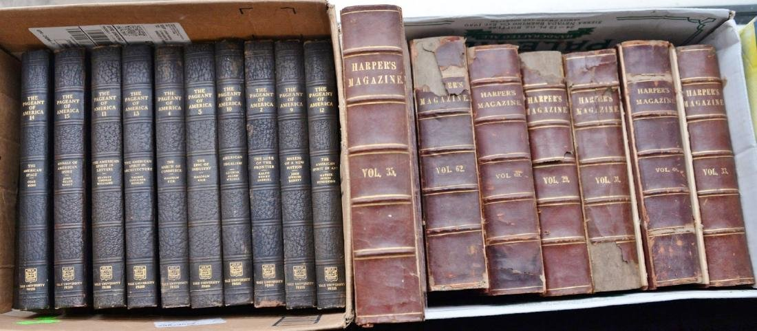 Forty-eight leather bound books to include three sets: