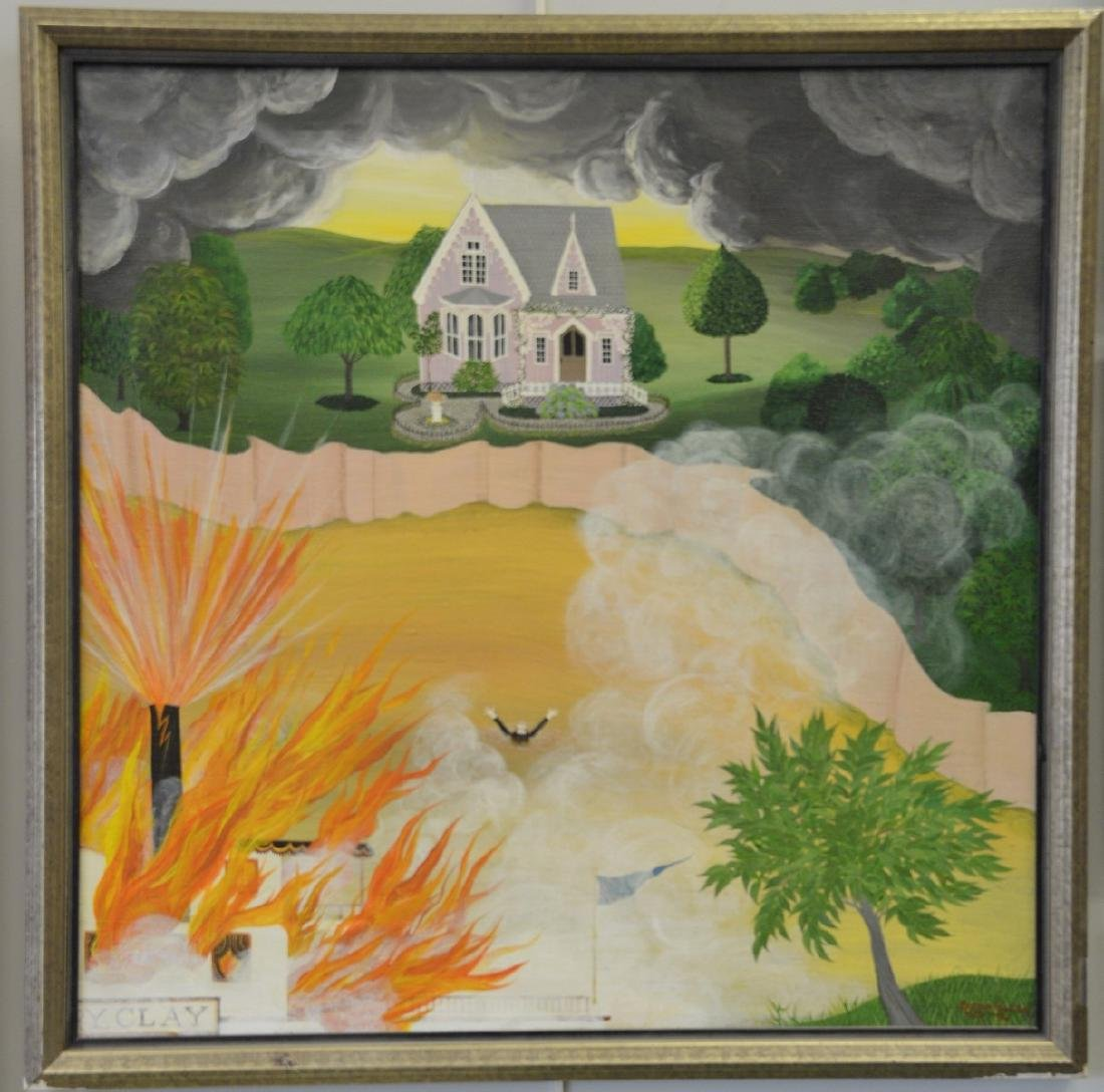 Barbara Bustetter Falk (20th century), oil on canvas,