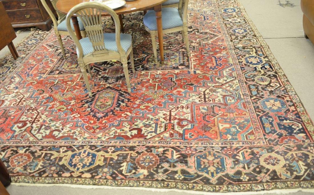 Heriz Oriental carpet, mid 20th century (as is - one
