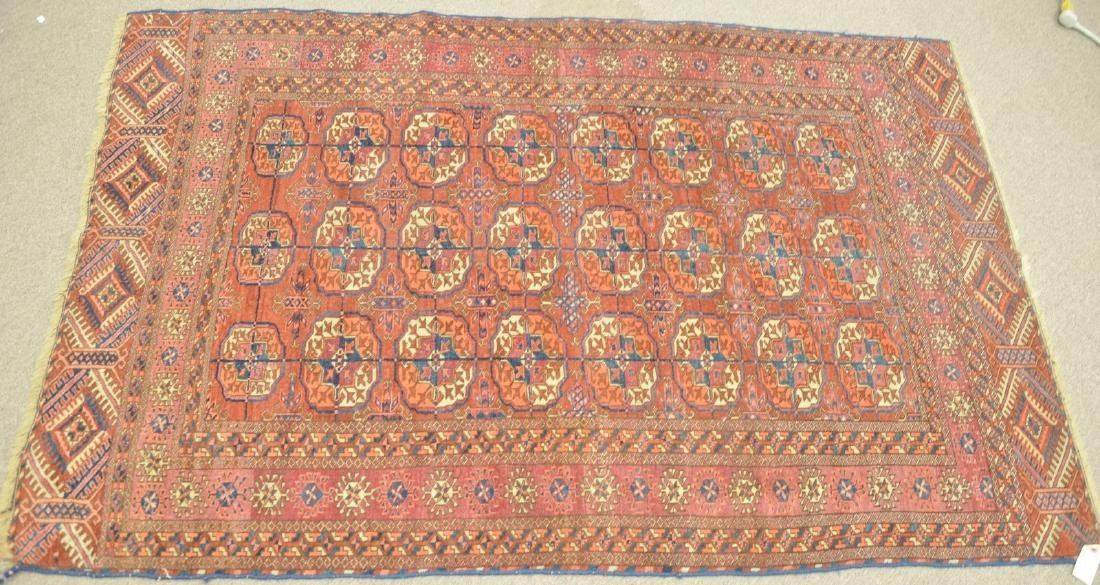 "Bokhara Oriental throw rug, early 20th century. 3'9"" x"