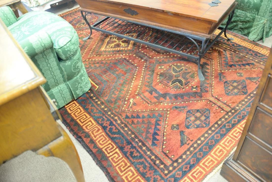 """Oriental area rug, 5'6"""" x 8'5""""."""