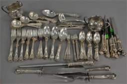 Gorham sterling silver flatware set, setting for twelve