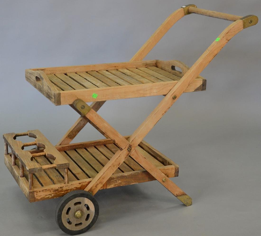 Teak tea cart. lg. 39 in.