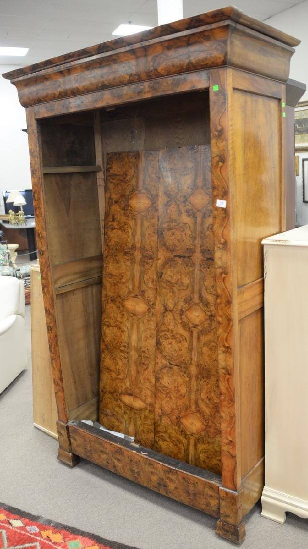 Burlwood two door armoire (doors off for moving). ht.
