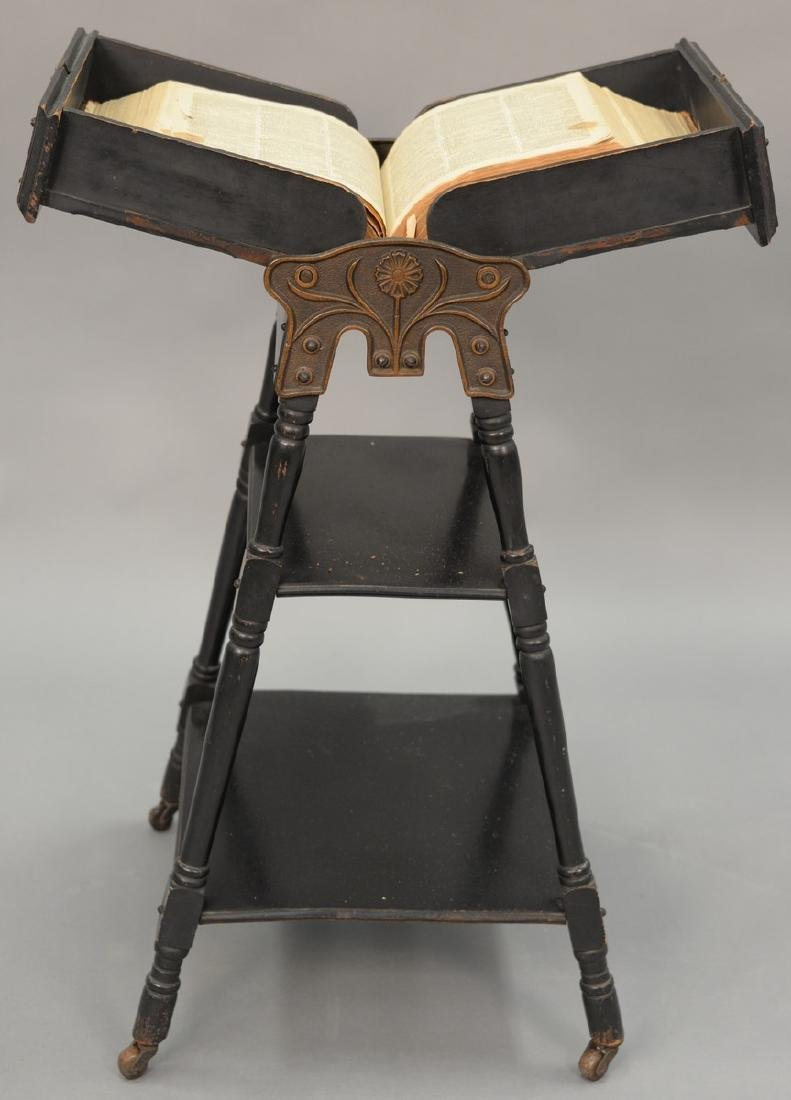 Victorian ebonized dictionary stand. ht. 36 in.